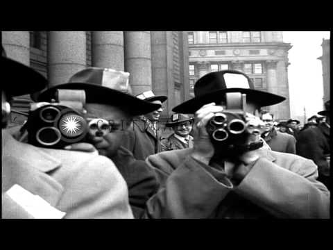 Trial of 12 Communists, prosecuted under the  Smith Act, held in Foley Square Cou...HD Stock Footage