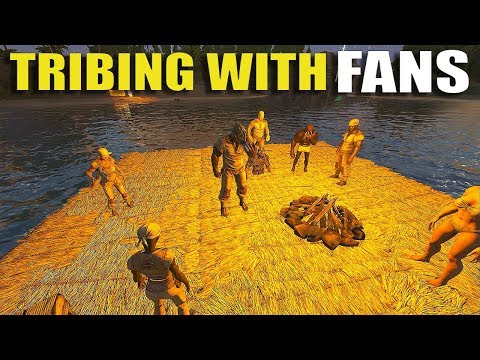 TRIBING WITH FANS! - 25 MAN OFFICIAL PVP SERVERS | ARK: SURVIVAL EVOLVED