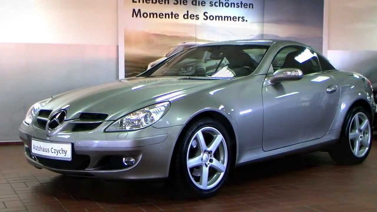 mercedes benz slk 200 k roadster 2006 cubanitsilber 1f121345 mb slk 200k youtube. Black Bedroom Furniture Sets. Home Design Ideas