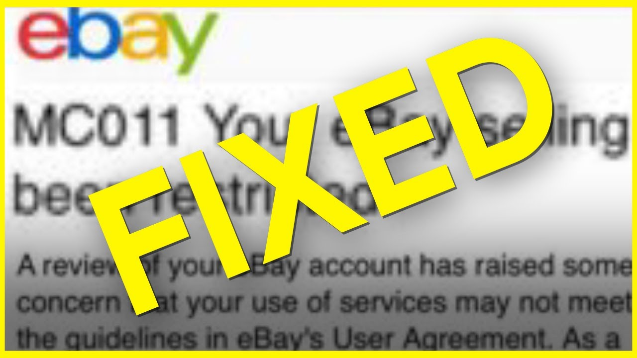Download How To FIX MC011 eBay Dropshipping Suspension | MC011 Suspension Solution eBay Dropshipping!