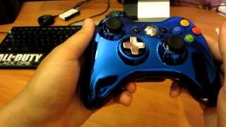 Обзор синего хромированного геймпада для xbox 360 от Gerki(Обзор был сделан для ситилинка. Обзор ПРОВОДНОГО геймпада xbox 360 для PC и xbox 360 от Gerki http://www.youtube.com/watch?v=RTdt27Gd-xE..., 2012-07-10T18:26:18.000Z)