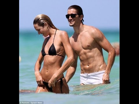 candice swanepoel and boyfriend on the beach - YouTube