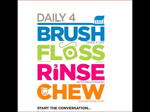 ADHA Daily 4 2017 | Brush, Floss, Rinse, Chew - YouTube
