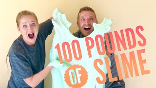 100 LBS of SLIME! The LAST Becca And Ryan Show EVER?! Thank You For 700,000 Subscribers! Anouncement