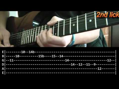 Comfortably Numb Guitar Solo Lesson 1/2 - Pink Floyd (with Tabs)