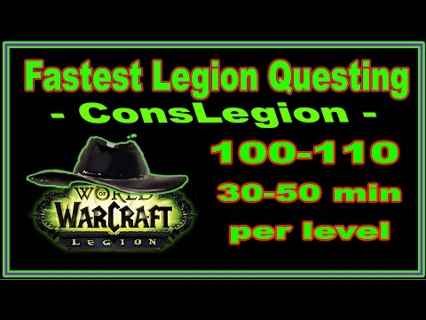 100-110 - 30-50 min/lvl - Leveling Addon for Fastest Questing & Group Leveling in Legion!