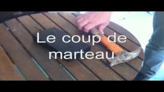 teste monolith coup de marteau ! et cutter ! www.marche-en-resine.com