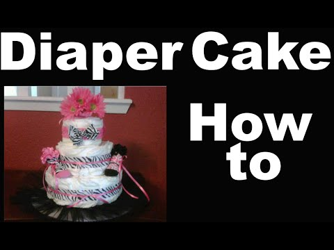 How To Make A Diaper Cake For A Baby Shower Full Starter