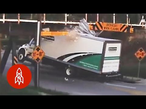 Big Truck + Low Bridge = Satisfying Schadenfreude