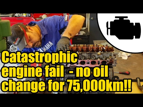 #1159 -  Car engine autopsy   no oil change for 75,000km!!