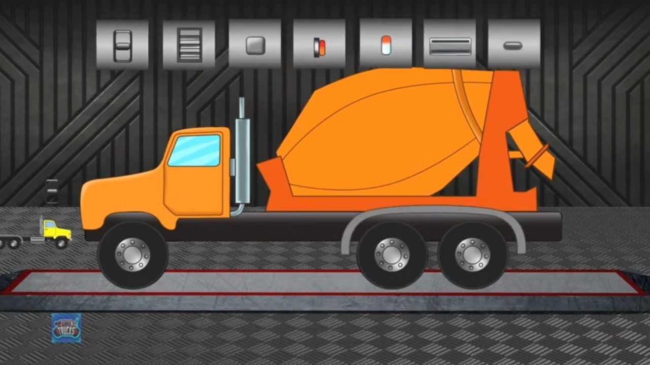 Cement Mixture Truck | Formation & Uses for Kids | Car & Truck for Children | Kids Vehicles