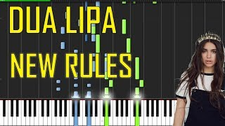 Dua Lipa  - New Rules Piano Tutorial - Chords - How To Play - Cover