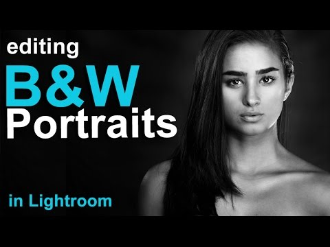 How to edit a black white portrait in lightroom