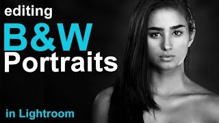 How to Edit a Black & White Portrait in Lightroom