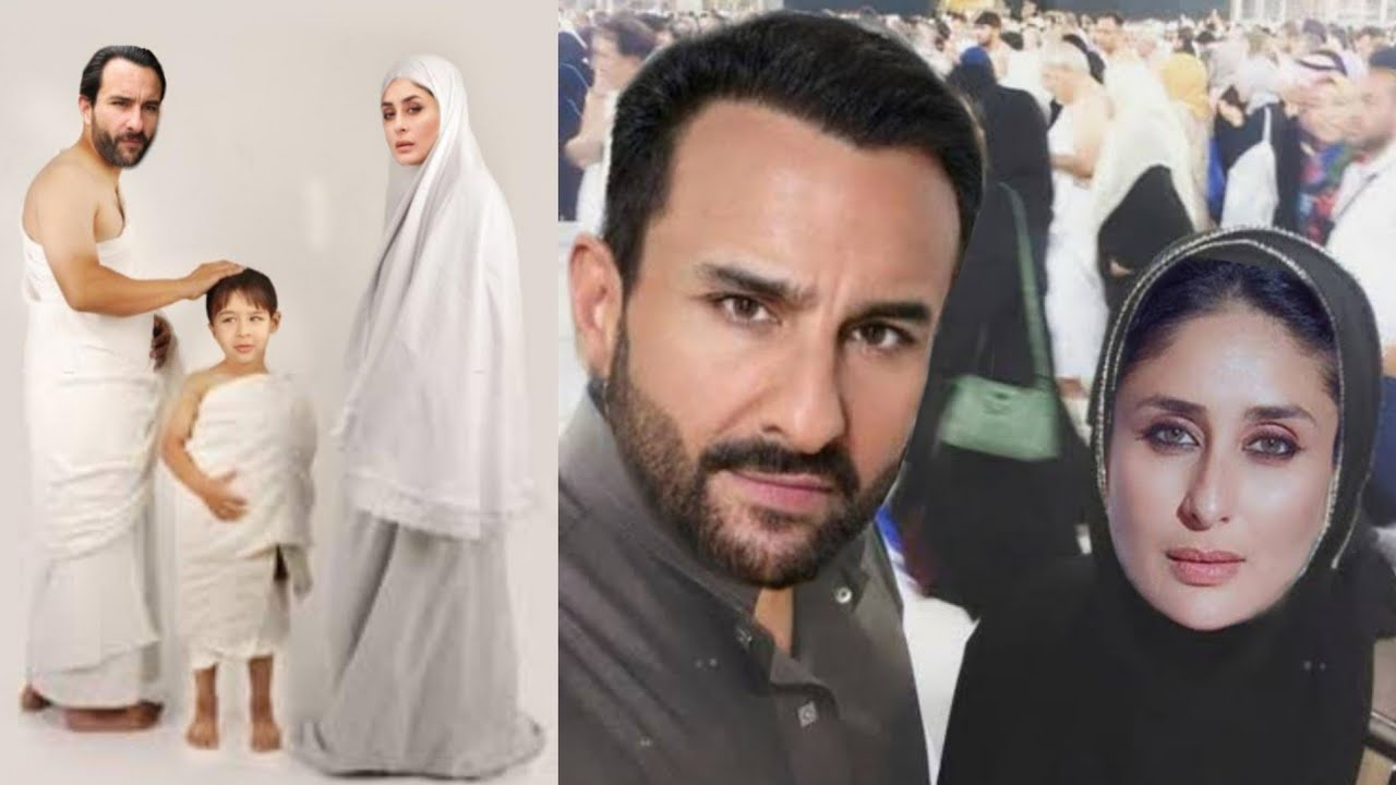 Kareena Kapoor First Hajj and Umrah with Saif Ali Khan and Taimur Ali Khan Masha'Allah