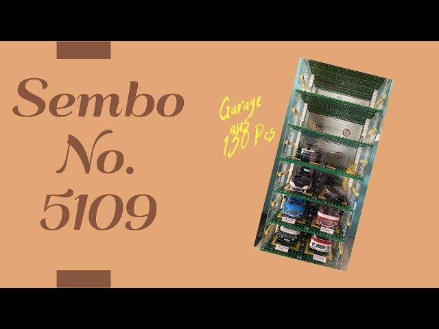Sembo No. 5109 Garage aus der Famous Car World Reihe - Super Set zum Aufbewahen und als Staubschutz