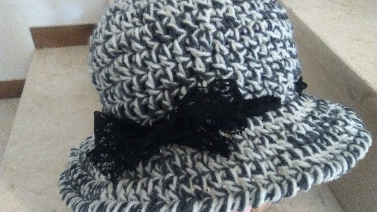 Crochet Cloche Hat With Brim Tutorial English Version Youtube