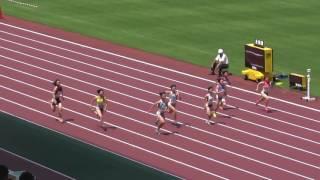 女子100m 準決勝2組 1 齋藤 愛美 (2) 倉敷中央・岡山 11.89 決...
