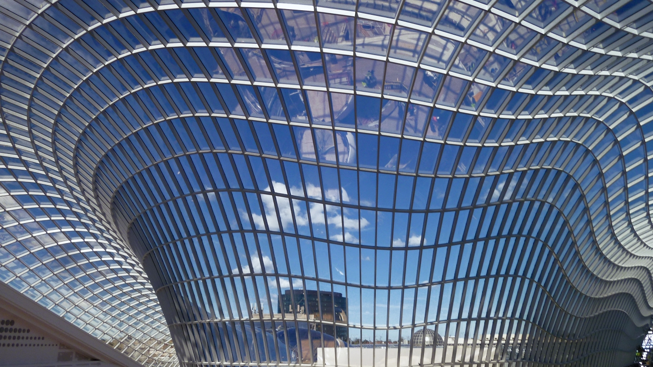 Steel Glass Gridshell Roof For Chadstone Stahl Glasdach