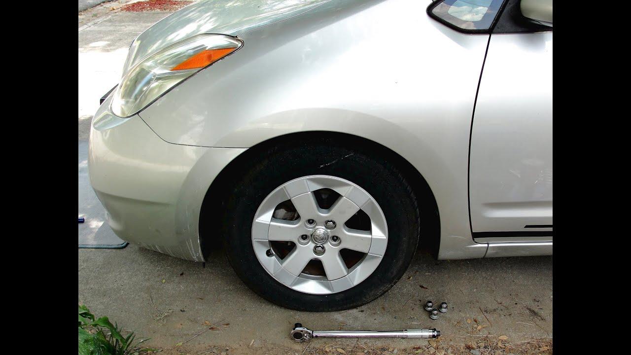 toyota prius front wheel bearing hub assembly replacement repair 2004 2005 2006 2007 2008 2009 [ 1280 x 720 Pixel ]