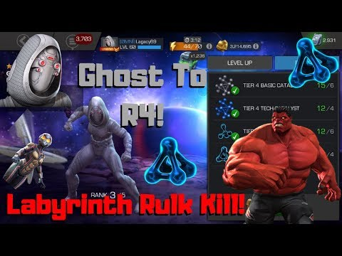 Taking Ghost To R4! Labyrinth Rulk Fight! - Marvel Contest of Champions