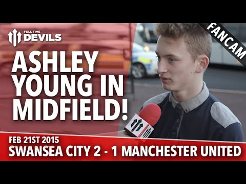 Ashley Young in Midfield! - Swansea City 2 Manchester United 1 - FANCAM - 동영상