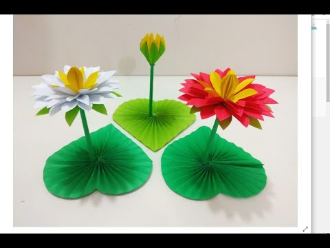 DIY Paper Water Lily !! How to make Water Lily With Paper !! Crazy Craft Ideas.