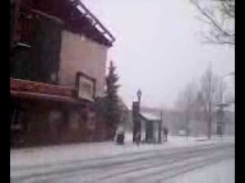 Orpheum Theater in Flagstaff Snow storm 2009