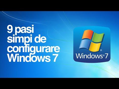 9 pasi de configurare Windows 7, pentru un pc/laptop mai rapid