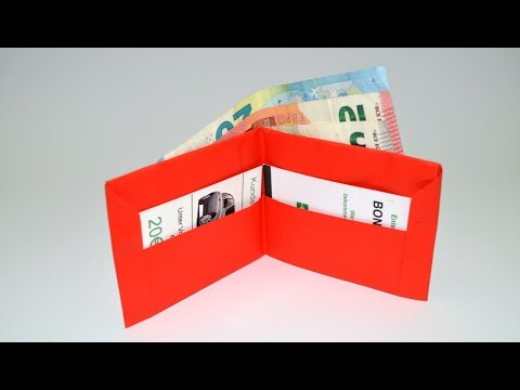 How to make a paper wallet | Easy Paper Purse