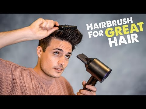 Mens Hairstyle Tips   The ONLY Hair Brush You'll EVER Need   BluMaan 2018