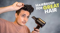 Mens Hairstyle Tips | The ONLY Hair Brush You'll EVER Need | BluMaan 2018