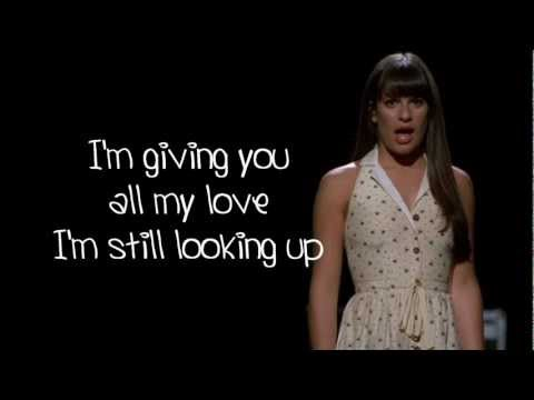 Glee - I Won't Give Up (Lyrics)