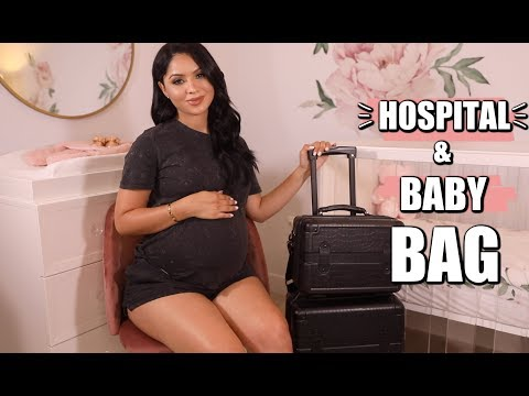 WHAT'S IN MY HOSPITAL & BABY BAG | Diana Saldana