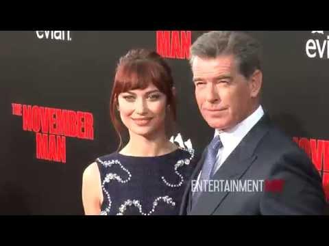 'The November Man' Los Angeles Premiere - Pierce Brosnan, Olga Kurylenko, Caterina Scorsone