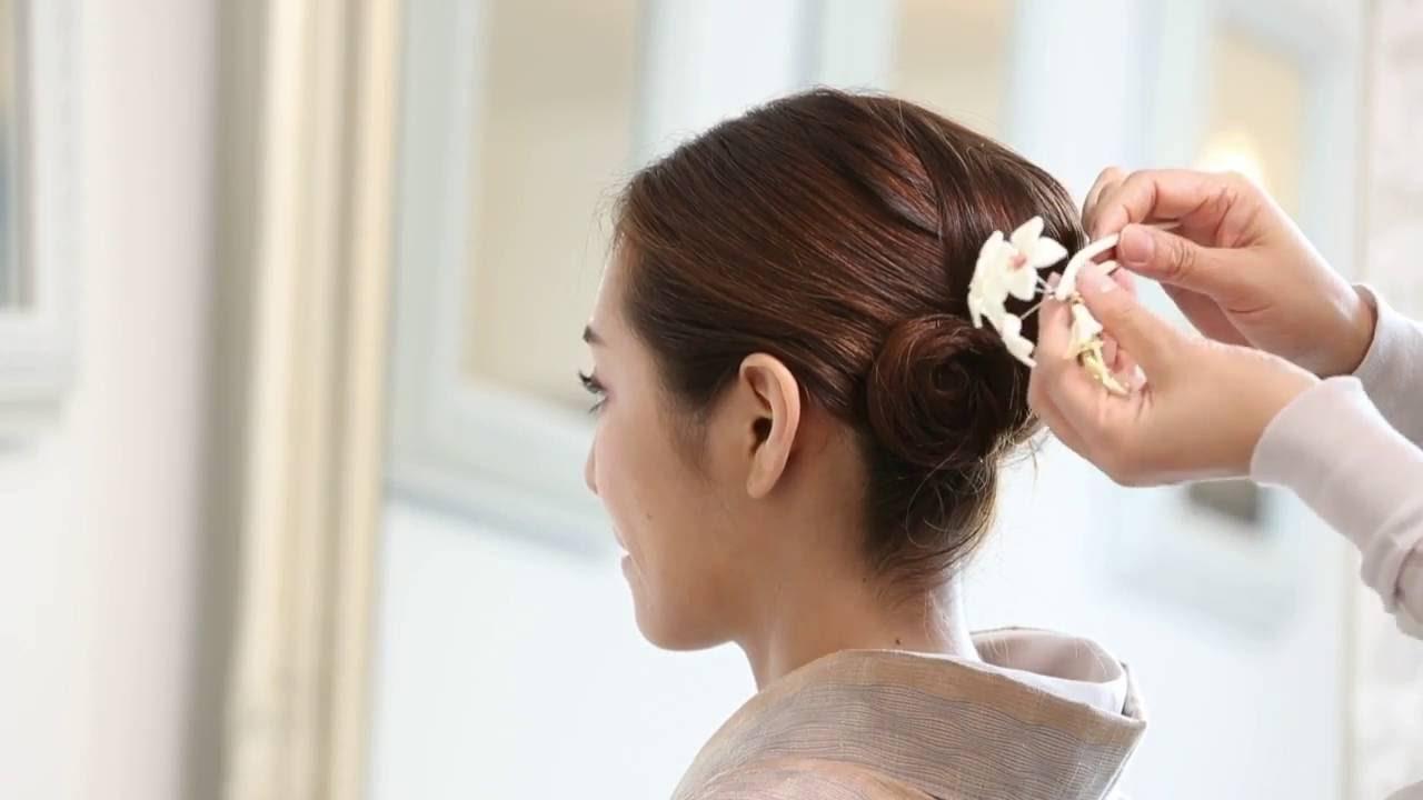 【着物 ひととき】プロが伝える 着物 髪型 ロング 自分で できる 簡単 30代 40代 50代 セミロング , YouTube