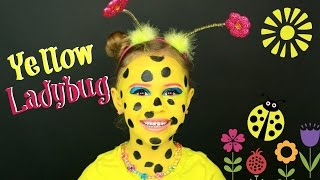 Spring Yellow Ladybug Makeup Tutorial