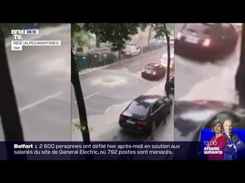 La ville de Nice sous les eaux après de fortes pluies