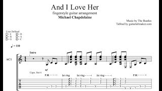 and i love her tab (michael chapdelaine) - fingerstyle guitar tab - pdf - guitar pro