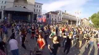 Flashmob Don Omar Danza Kuduro Timisoara  Ziua Europei Europe's Day 2015
