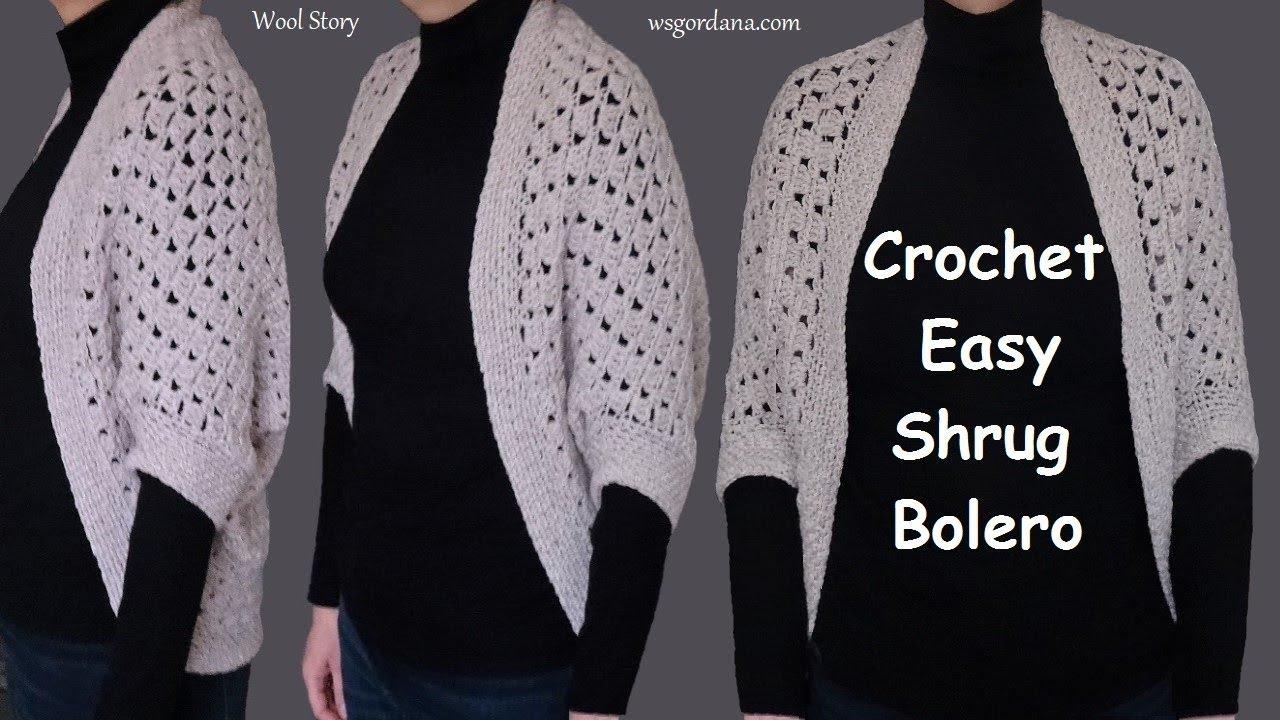 Crochet Easy Shrug Bolero Diy Tutorial Heklani Bolero Youtube