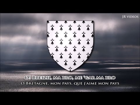 Hymne de la Bretagne (BR/FR paroles) - Anthem of Brittany (French)