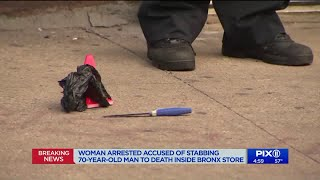 Woman fatally stabs 70-year-old man at Bronx supermarket