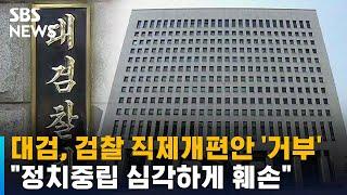 """대검, 검찰 직제개편안 '거부'…""""정치중립 심…"""