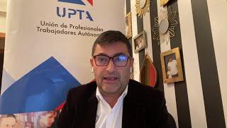 El presidente de UPTA, Eduardo Abad, tras la reunión de autónomos