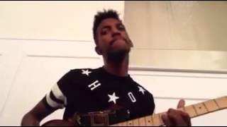 Xeryus Gittens Guitar Smooth Chord Freestyle  At Choir Rehearsal @XeryusG