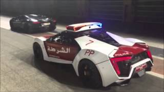 Lambo vs. Lykan Hypersport Police Car Abu Dhabi Aventador Flames