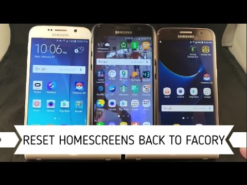 Reset Home Screens Back To Factory   Samsung
