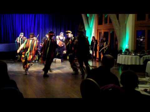 Heb Enw Morris dance Belligerent Bluejay at Rhosygilwenhelped out by John Kirkpatrick.