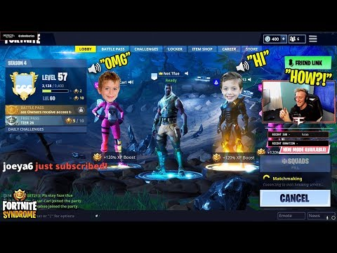 7 YEAR OLD KID JOINS TFUES LOBBY WITH HIS FRIENDS THEN WINS GAME! - Fortnite Moments #122